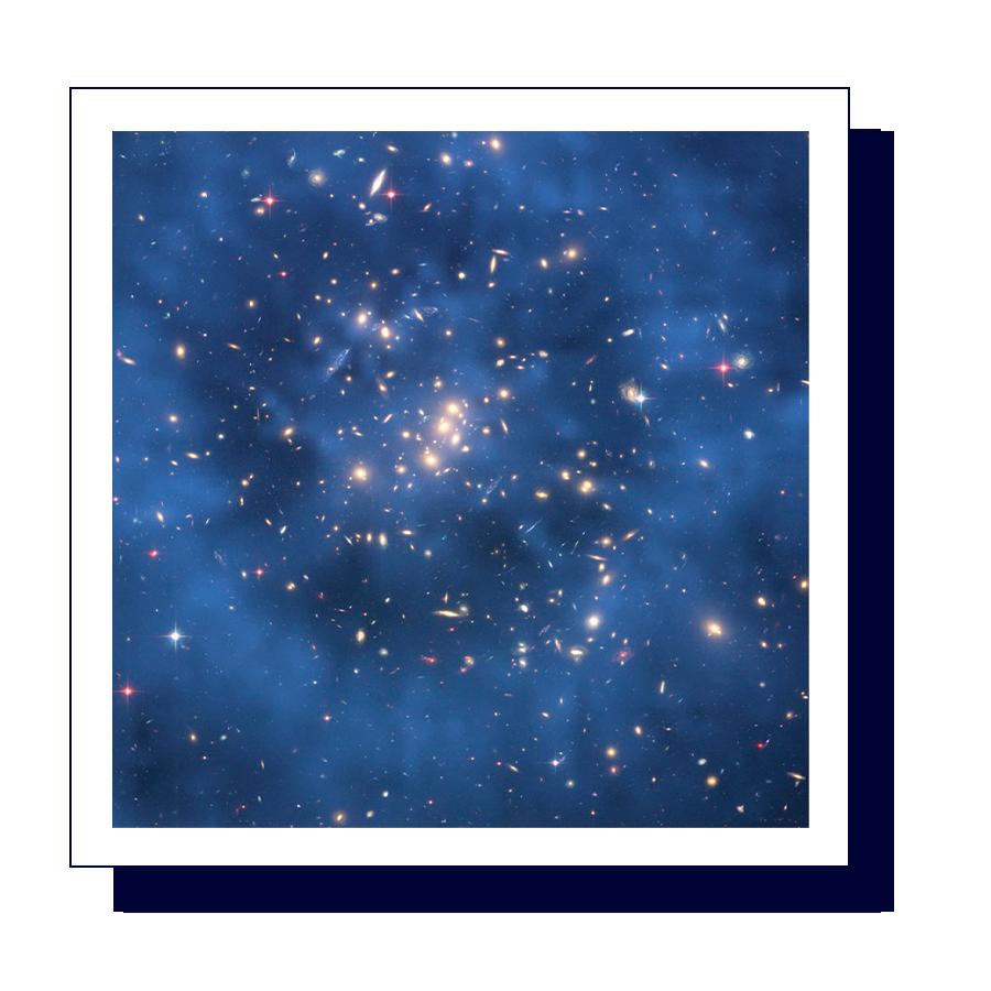Illustration of dark matter in space