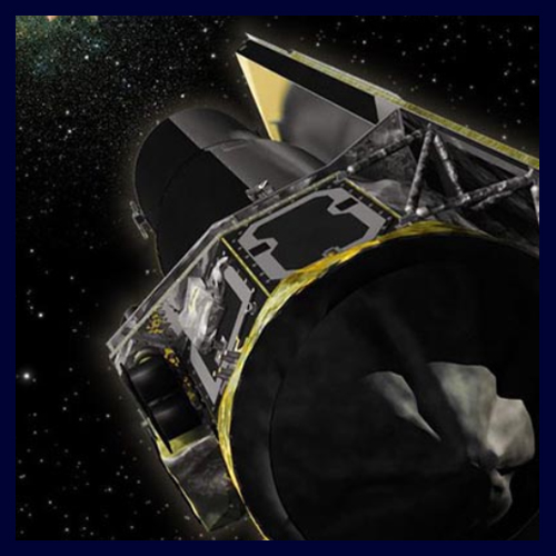 Image of telescope in space