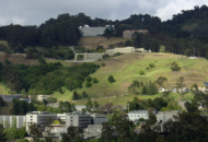 Aerial view of upper Berkeley campus, including LBNL
