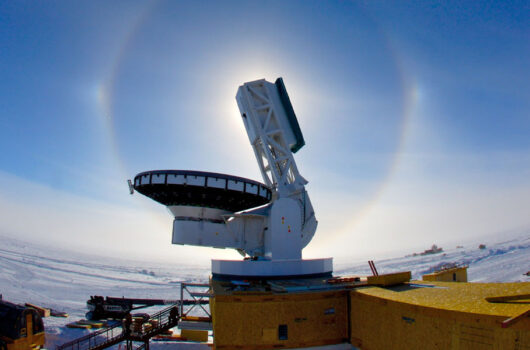 Satellite at the South Pole